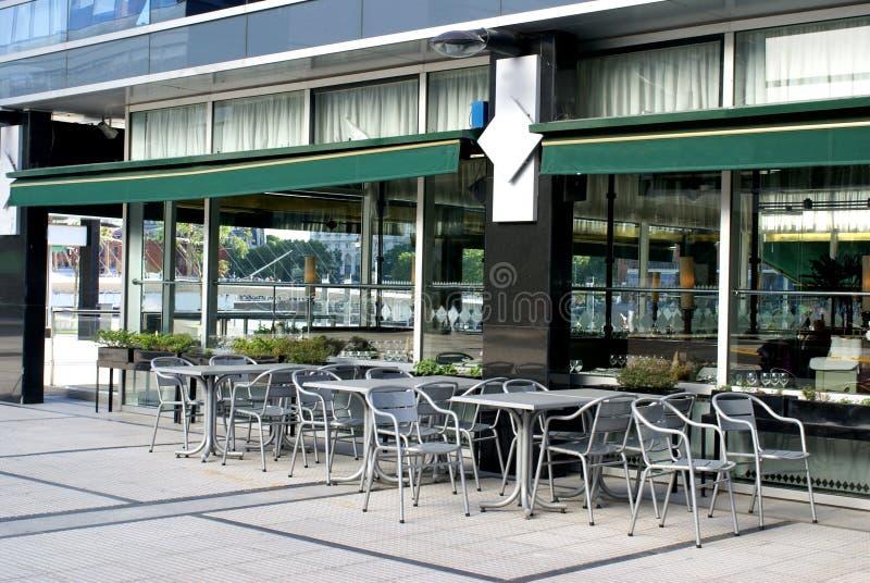 кафе пустое стоковая фотография rf