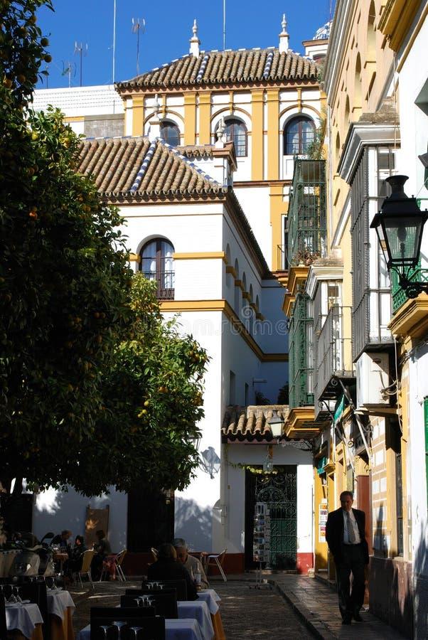 Кафе центра города, Севилья, Испания стоковое изображение rf