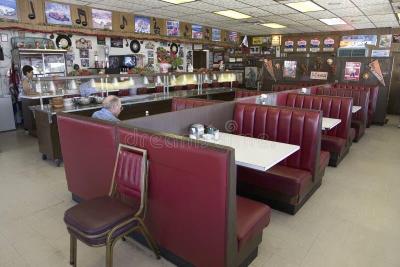Кафе Hokes на старом шоссе Линкольна стоковые изображения