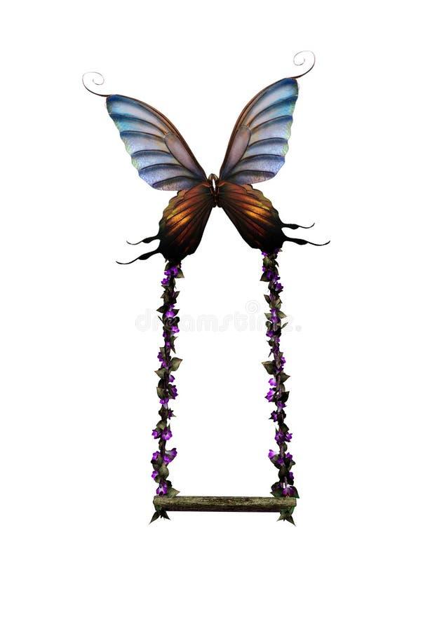 качание бабочки иллюстрация штока
