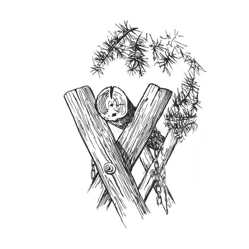 Качание в соснах бесплатная иллюстрация