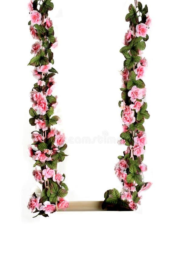качание пинка цветка стоковые изображения rf