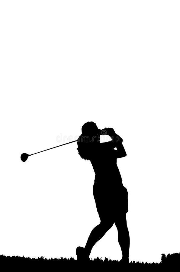 качание силуэта гольфа иллюстрация вектора