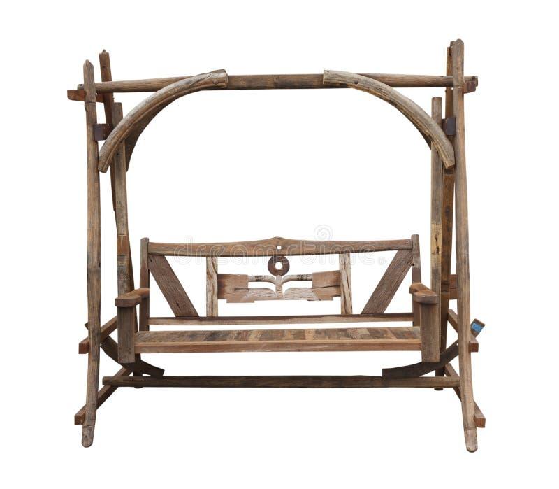 качание стула деревянное стоковое фото