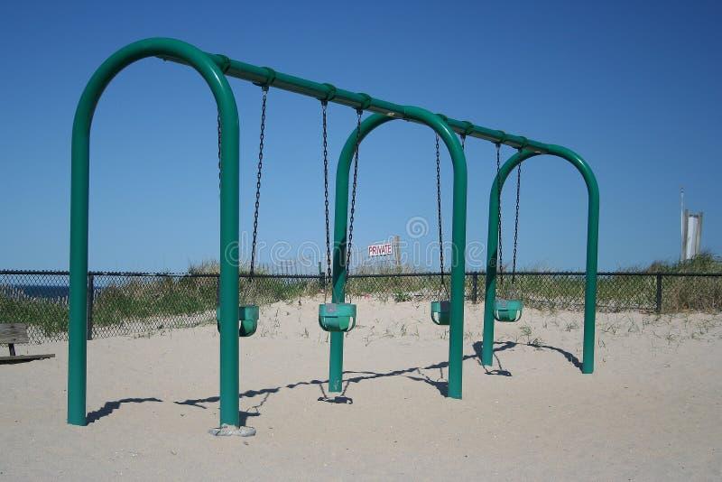 качания пляжа песочные стоковые фотографии rf