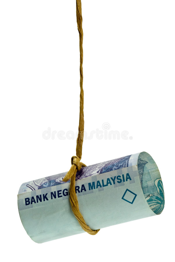 качая малайзийский ringgit стоковая фотография