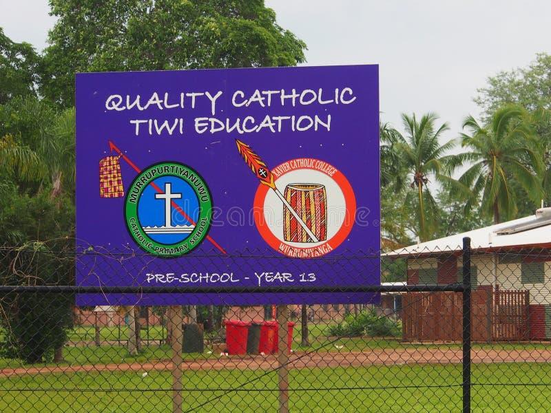 Качественное католическое образование Tiwi стоковое фото rf