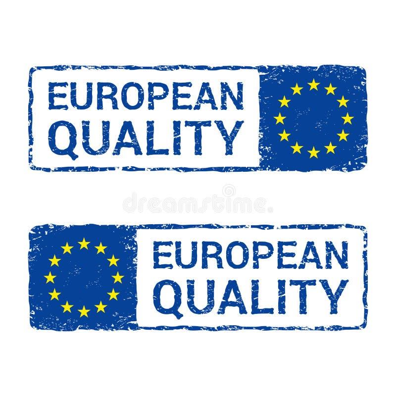 Качество Европейского союза, штемпель письма вектора EC иллюстрация вектора