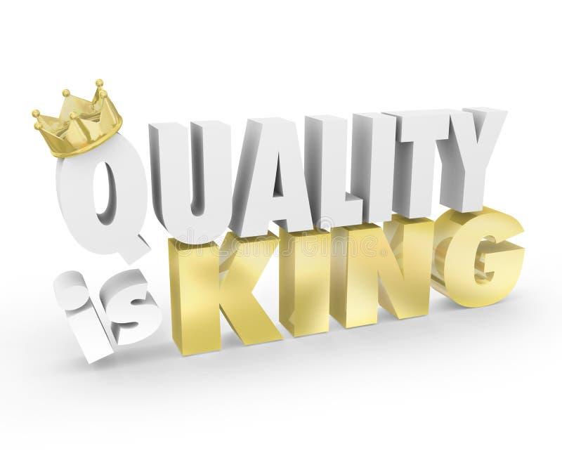 Качество продукт короля Слова Верхней части Значения Приоритета самый лучший иллюстрация штока
