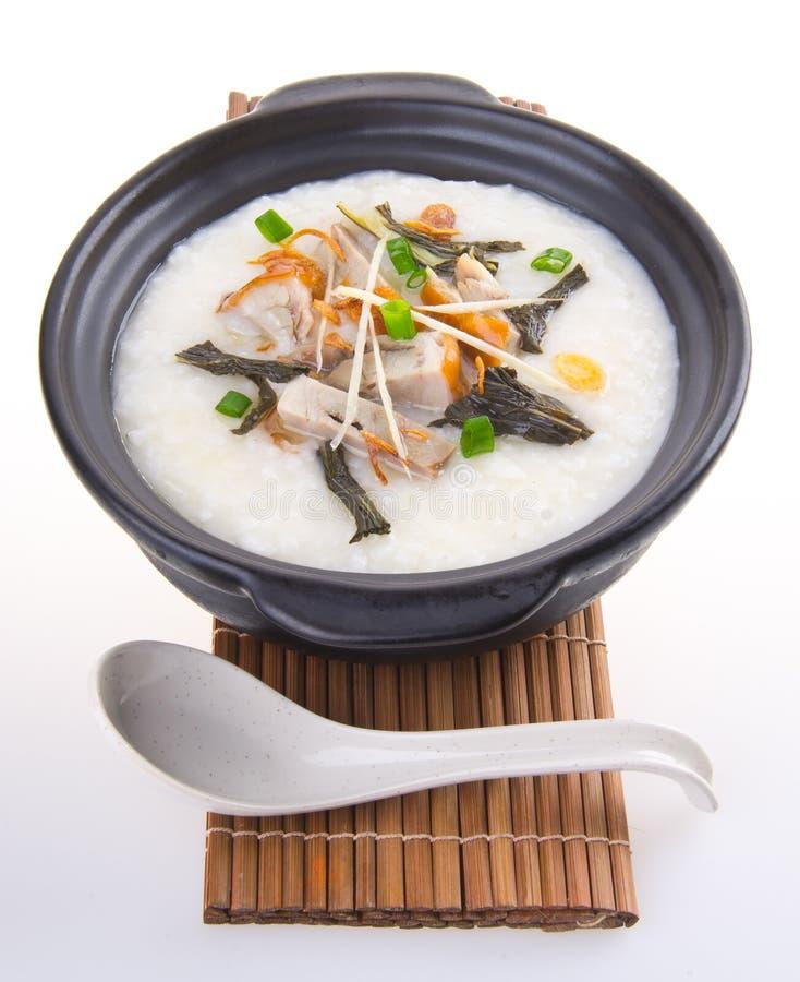 Каша свинины традиционного китайския Claypot стоковая фотография rf