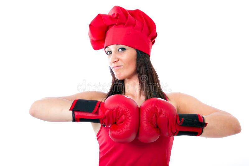 кашевар шеф-повара бокса olimpic стоковое фото