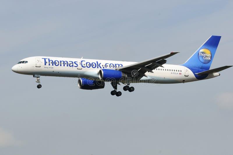 кашевар thomas Великобритания 757 Боинг стоковая фотография rf
