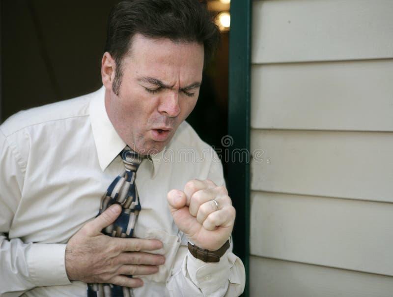 кашлять человек стоковое фото rf