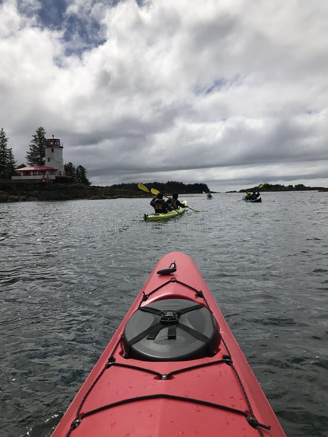 Каяк Аляска стоковое изображение rf
