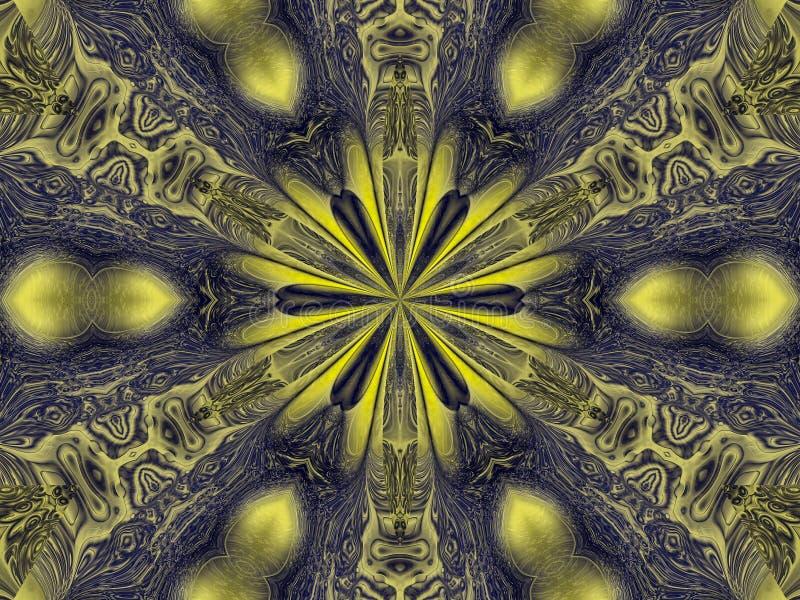 Калейдоскоп племенной иллюстрация вектора