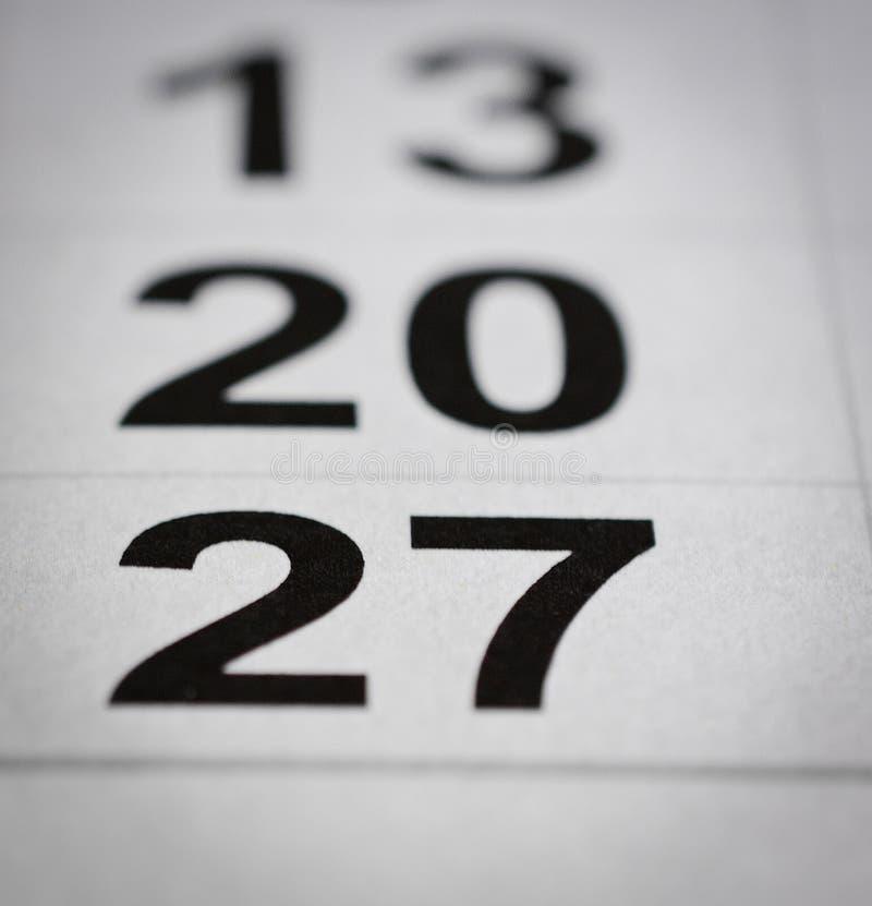 27 календарей стоковые фотографии rf
