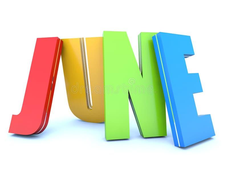 Календарный месяц -го июнь - иллюстрация вектора