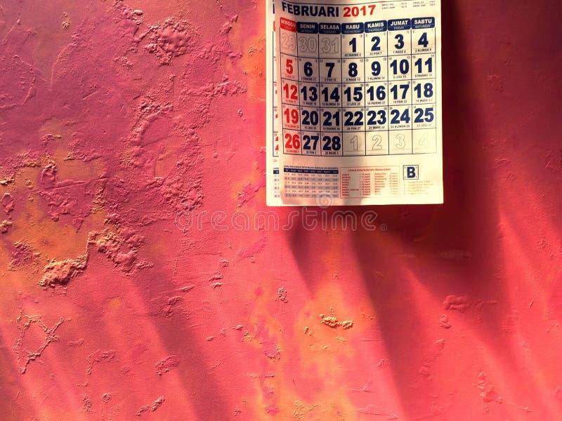 Календарь в феврале стоковое изображение rf