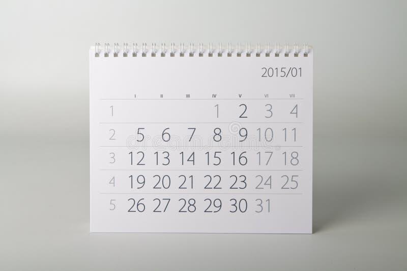 календарь 2015 год январь стоковая фотография