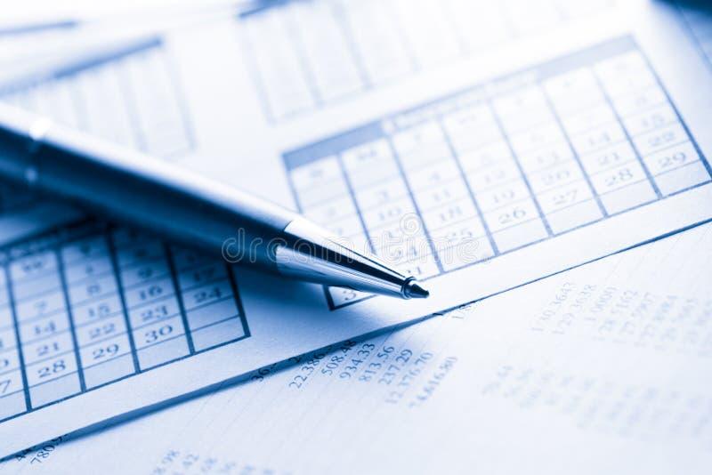 Календарь и ручка стоковое фото rf