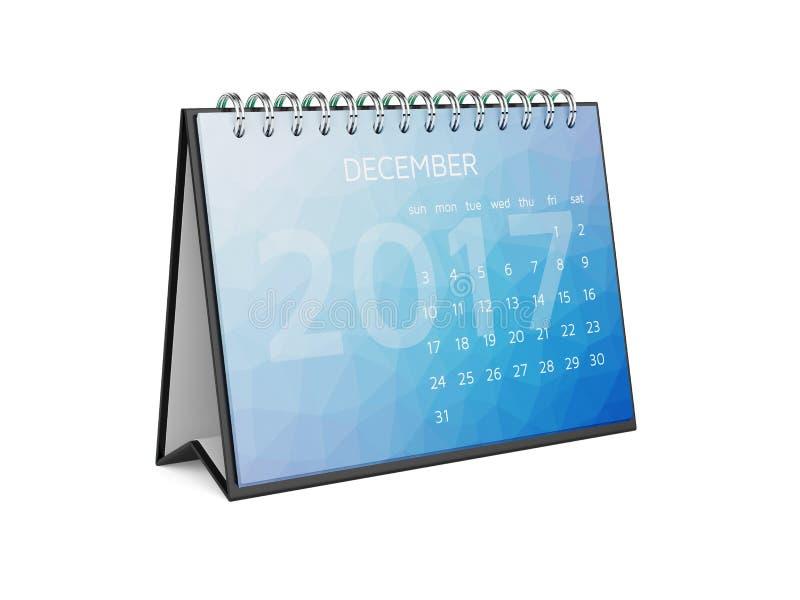 Календарь на 2017 -го декабрь бесплатная иллюстрация