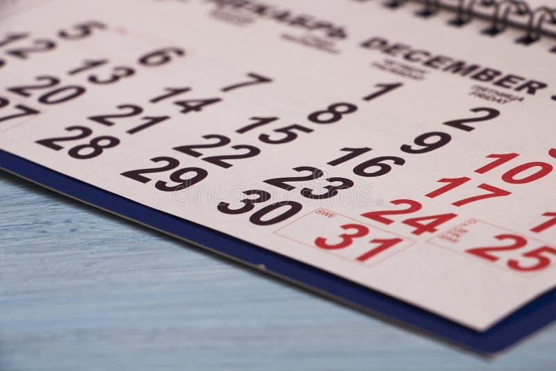 Календарь на таблице Для напоминания дат чертенка стоковое фото