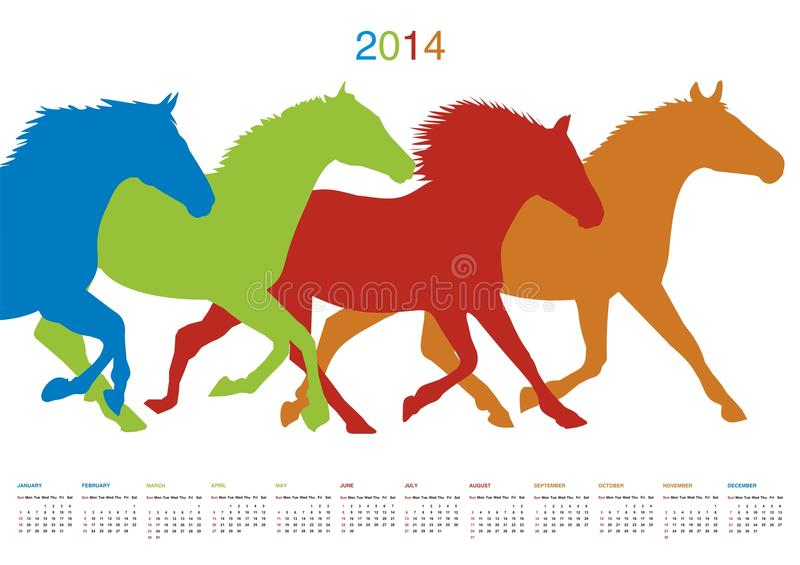 Календарь на 2014 бесплатная иллюстрация
