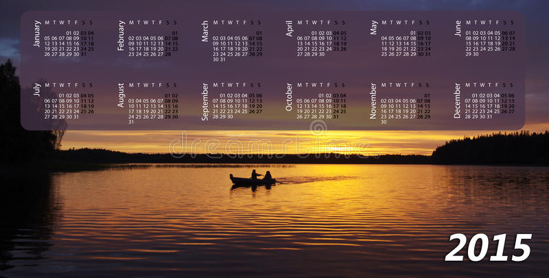 Календарь на 2015 стоковая фотография