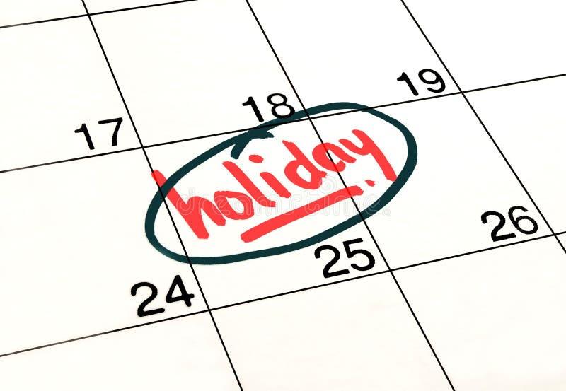 Календарь праздника планирования стоковое фото