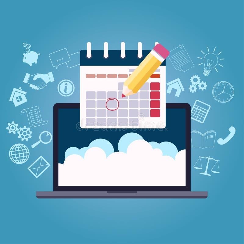Календарь планированиe бизнеса иллюстрация вектора