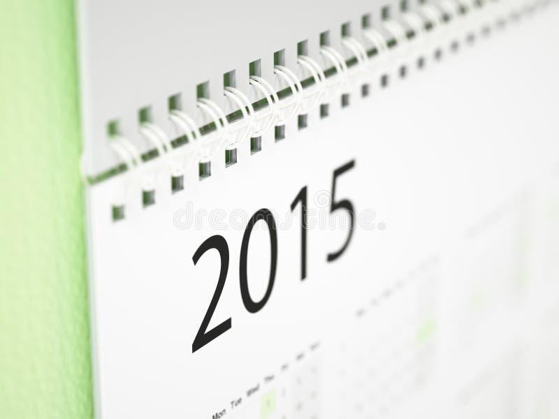 Календарь стены 2015 стоковое изображение