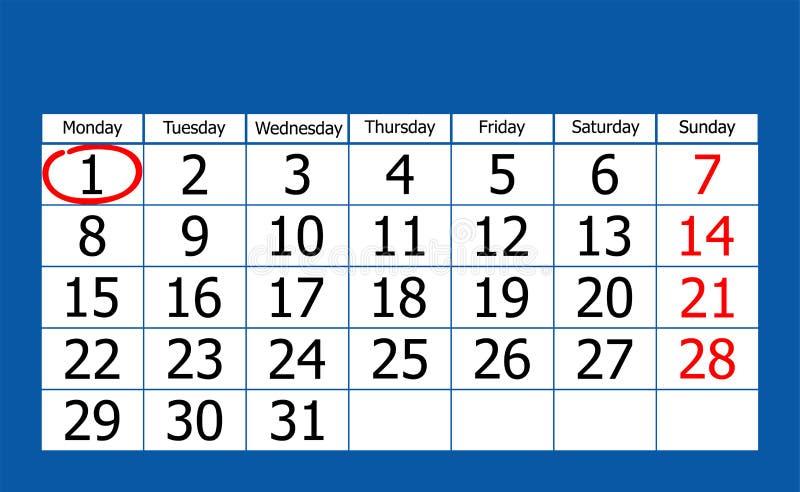Календарь иллюстрация штока