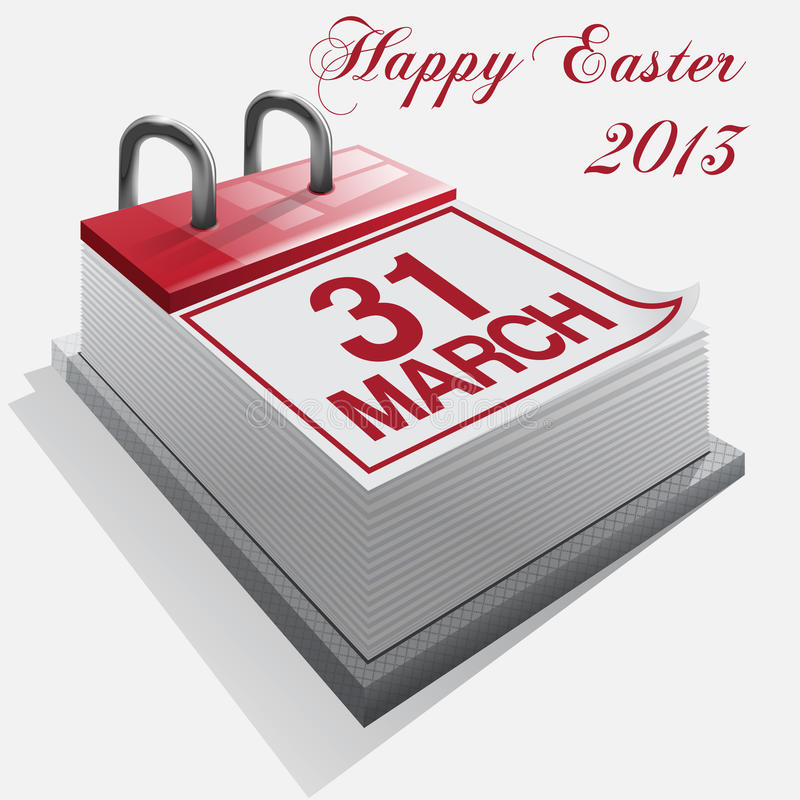 Календар. Счастливое Easter.Vector. иллюстрация штока