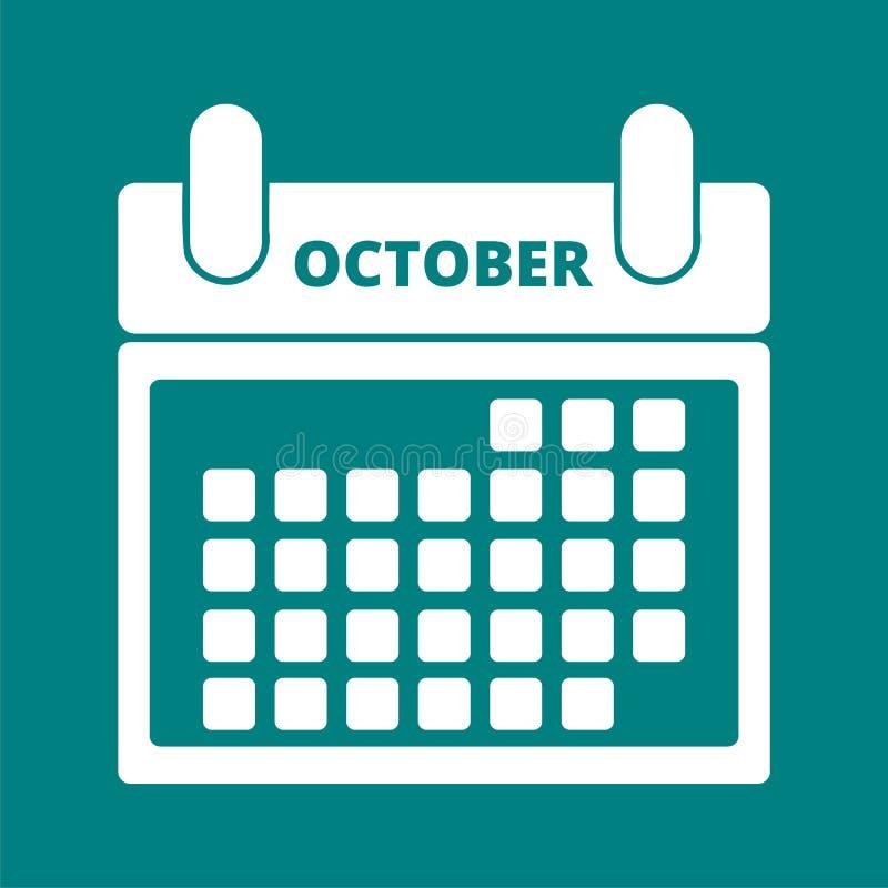 календар октябрь иллюстрация штока