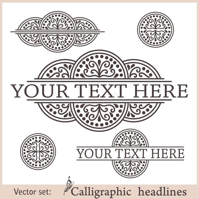 каллиграфический вектор изображения элементов конструкции также вектор иллюстрации притяжки corel бесплатная иллюстрация