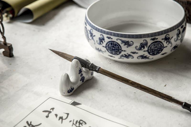 Каллиграфия Китая стоковая фотография rf