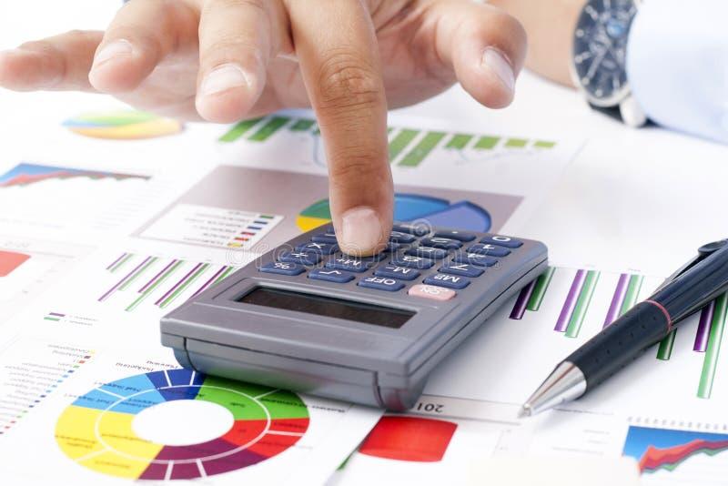 Калькулятор и налоговые декларации стоковое изображение