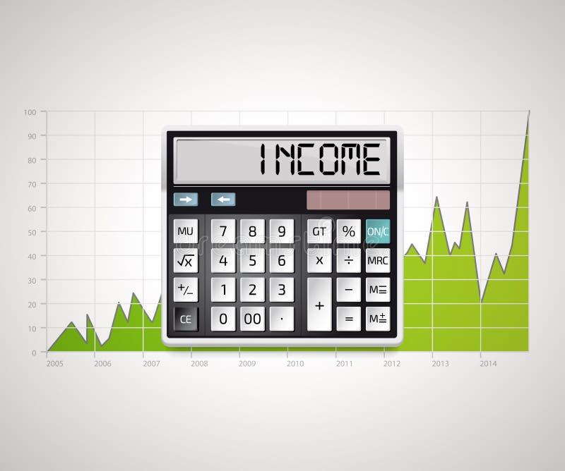 Калькулятор - доход иллюстрация вектора