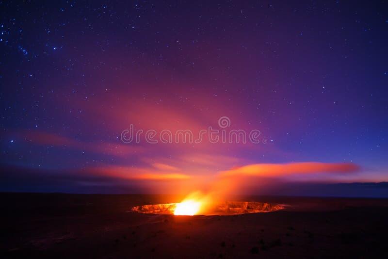 Кальдера вулкана Kilauea стоковые изображения