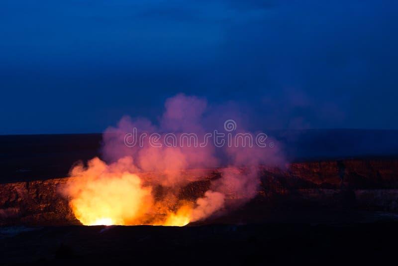 Кальдера Kilauea стоковое изображение