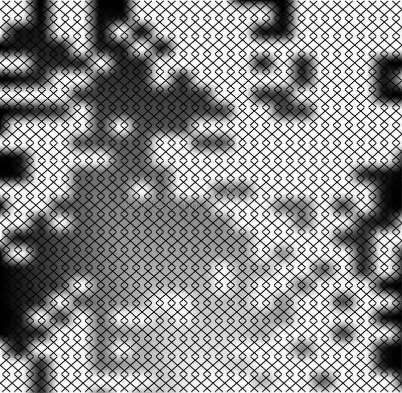 Квадратная картина как сетка металла на черно-белом пятне поставила точки предпосылка Квадратная решетка в текстуре stile grunge бесплатная иллюстрация