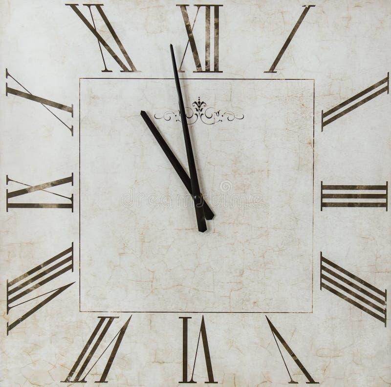 Квадратные часы части времени стоковое фото
