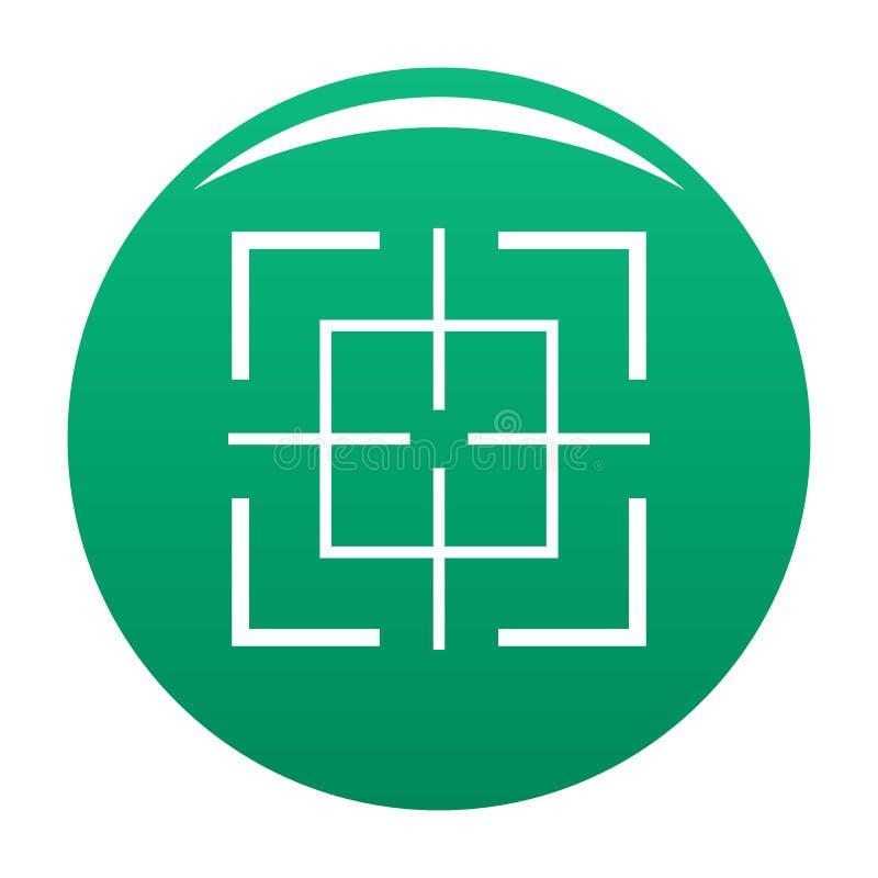 Квадратный зеленый цвет вектора значка цели бесплатная иллюстрация