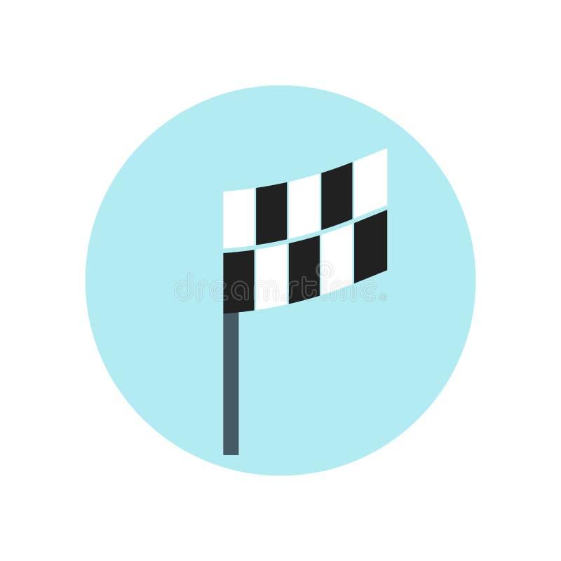 Квадратный знак и символ вектора значка флага изолированные на белой предпосылке, квадратной концепции логотипа флага иллюстрация штока