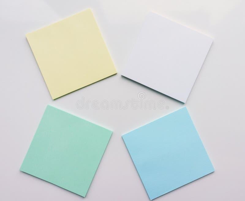 Квадратный лист бумаги 4 на белой предпосылке Взгляд сверху Конец-вверх иллюстрация вектора