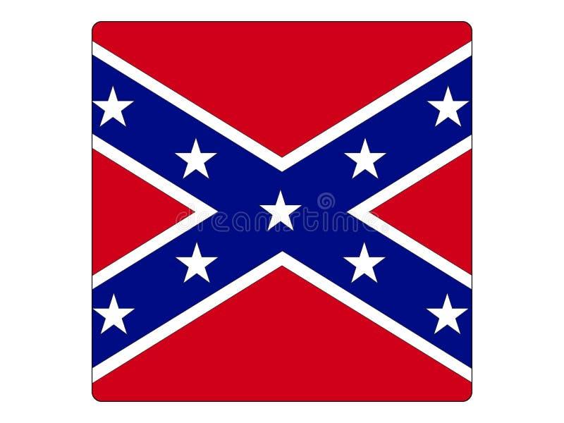 Квадратный флаг конфедерации иллюстрация вектора