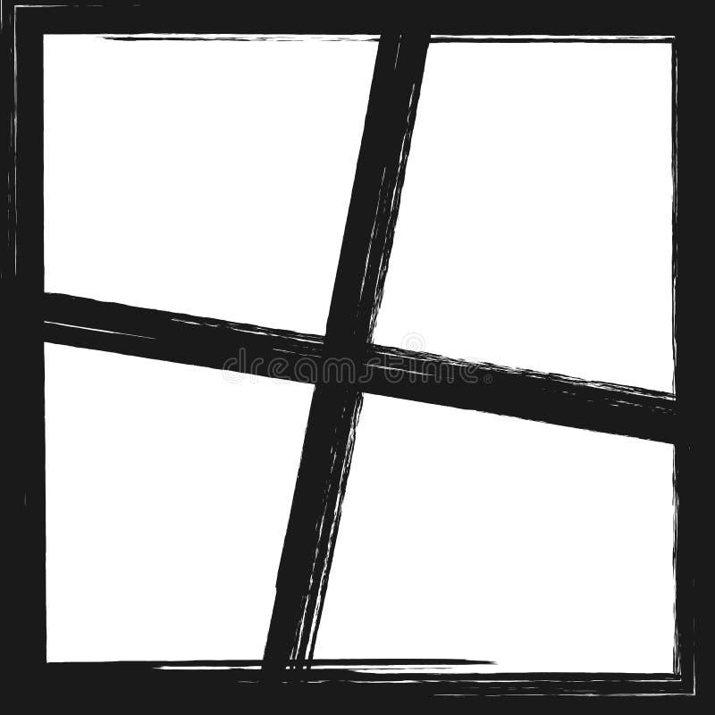 Квадратный шаблон с рамками для дизайна коллажа фото grunge иллюстрация вектора