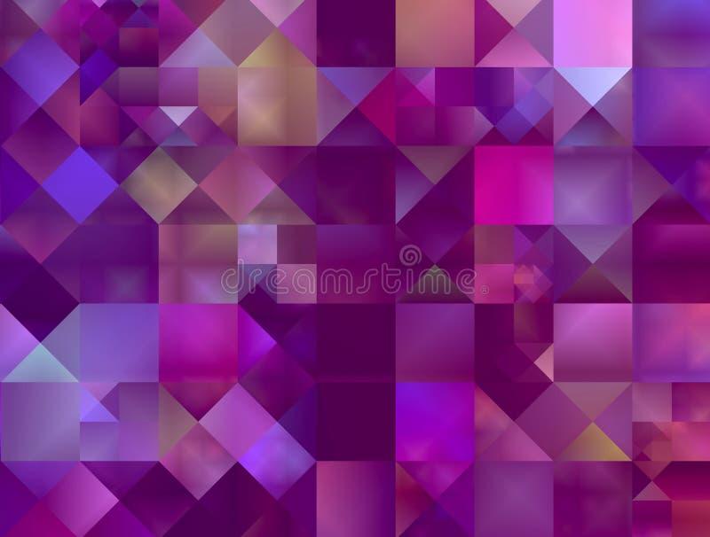 квадраты абстрактной предпосылки декоративные иллюстрация вектора