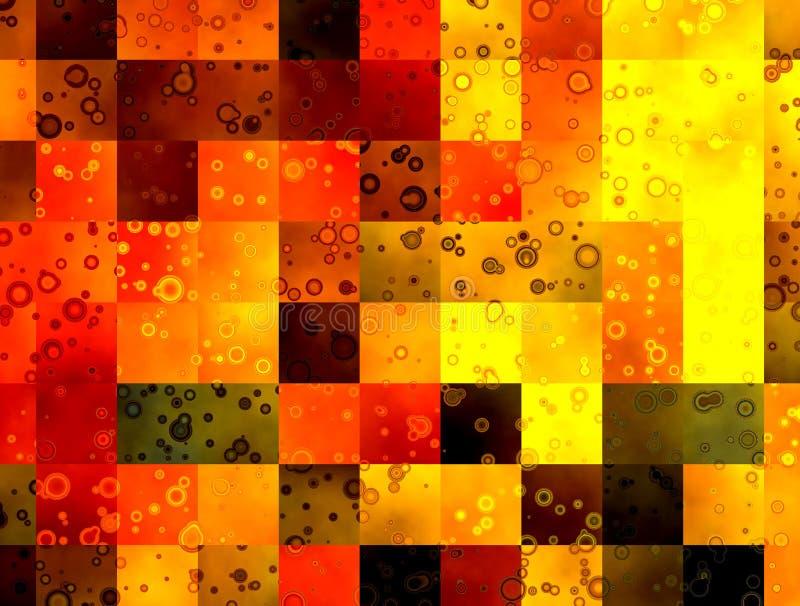 квадраты абстрактной предпосылки цветастые иллюстрация вектора
