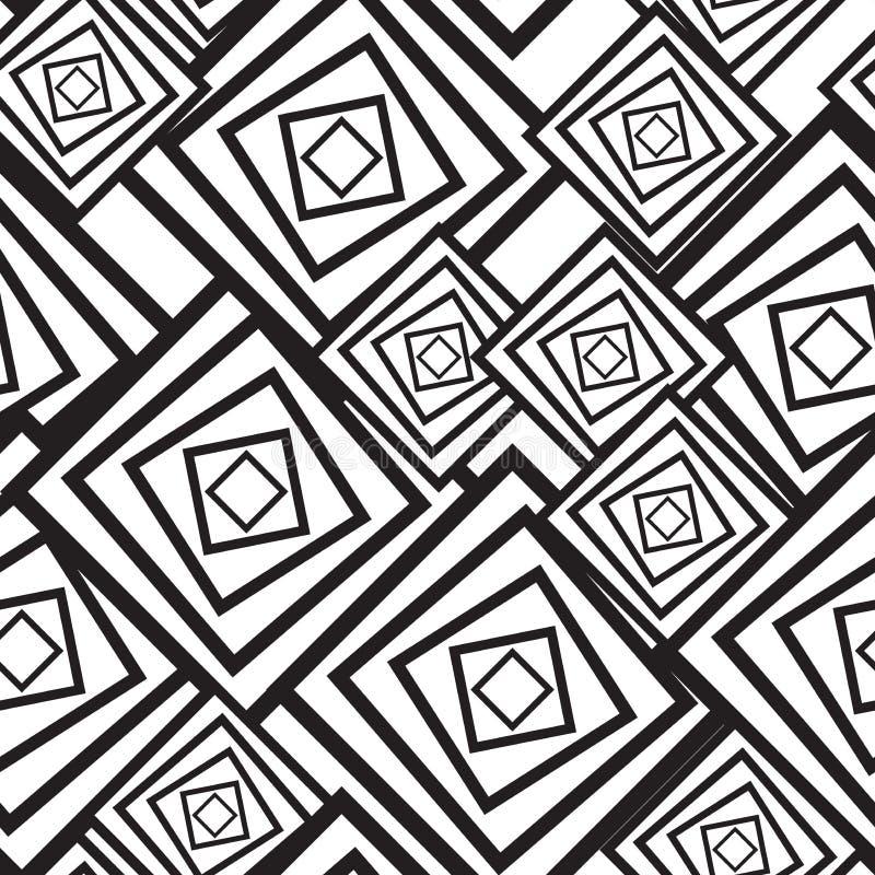 квадраты абстрактной предпосылки черные белые иллюстрация вектора